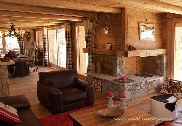 R alisations exemples de travaux vieux bois - Decoration interieur chalet bois ...
