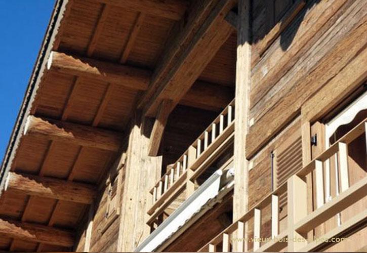 Madriers d doubl s vieux bois des alpes - Poutre bois pour exterieur ...